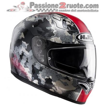 Casco integrale moto fibra doppia visiera Hjc Void Mc1sf rosso red Helmet casque