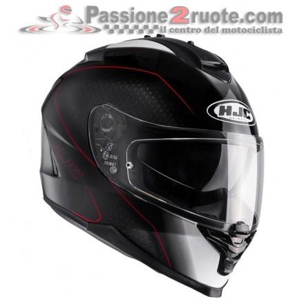 Casco Integrale Hjc Is-17 Arcus Mc1 nero rosso black red helmet casque