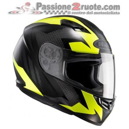Casco integrale moto Hjc Cs-15 Treague Mc4hsf nero giallo fluo yellow black helmet