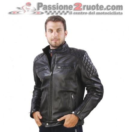 Giacca uomo pelle moto vintage retro scrambler cafe racer naked Oj Garage leather jacket