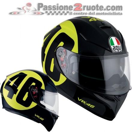 Casco integrale moto Agv K-3 Sv Pinlock Valentino Rossi Bollo 46 Vr46 helmet casque