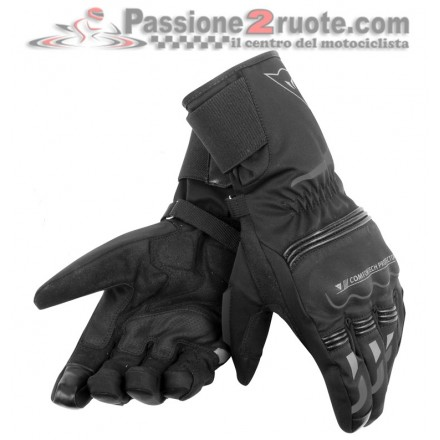Guanti moto lunghi invernali Dainese Tempest D-Dry Long Nero gloves