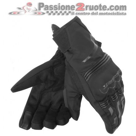 Guanti moto corti invernali impermeabili Dainese Tempest D-dry short black waterproof winter gloves