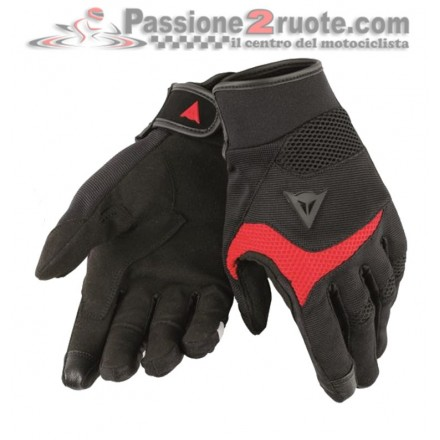 Guanti moto estivi Dainese Desert Poon D1 Nero Rosso black red gloves