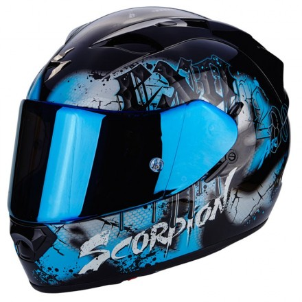Casco integrale moto Scorpion Exo 1200 Air Tenebris black blu helmet casque