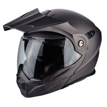 Casco modulare apribile enduro touring adventure moto Scorpion ADX-1 grigio titanio opaco titanium mat Helmet casque