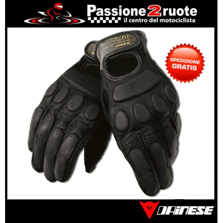 Guanti pelle moto vintage Dainese Blackjack Nero black gloves