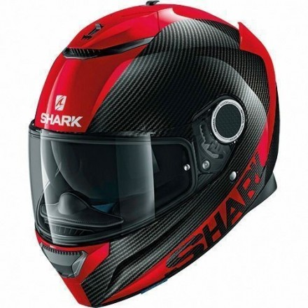 Casco integrale moto carbonio Shark Spartan Carbon Skin rosso black red helmet casque