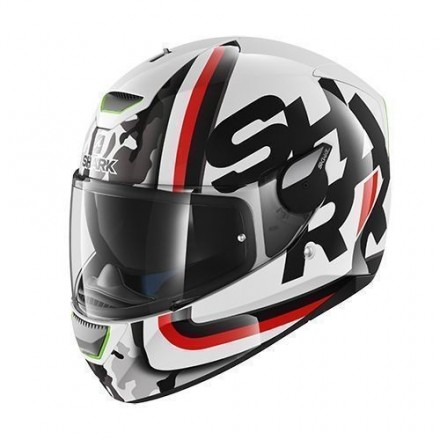 Casco Shark Skwal Cargo White Black Red