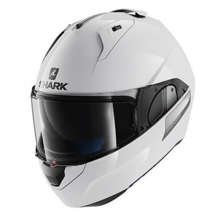 Casco modulare apribile reversibile moto Shark Evo One bianco white flip up helmet casque