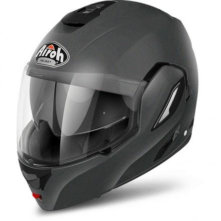 Casco modulare apribile reversibile moto Airoh Rev Color grigio titanio opaco matt titanium flip-up helmet casque