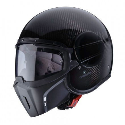 Casco jet integrale carbonio vintage cafe racer naked custom scrambler Caberg Ghost Carbon helmet casque