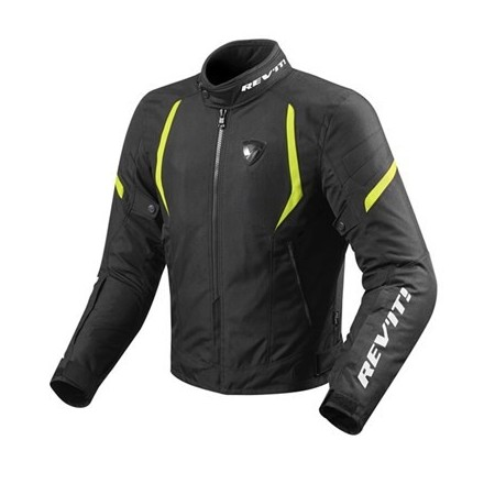 Giacca moto Revit Rev'it Jupiter 2 man Black yellow jacket