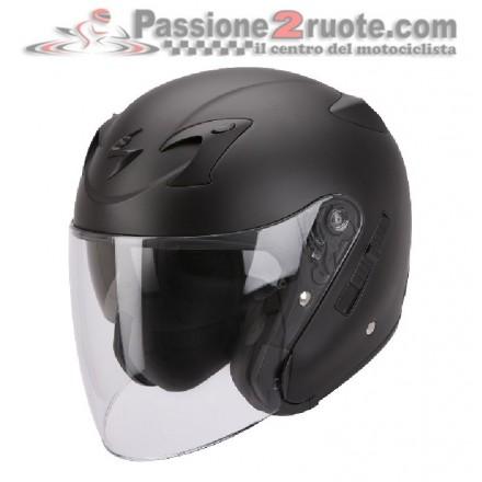 Casco jet con visierino parasole interno Scorpion Exo 220 nero opaco black matt helmet