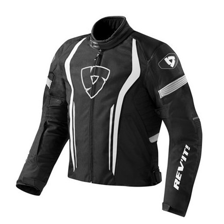 Giacca giubbotto moto RevIt Raceway Black White jacket
