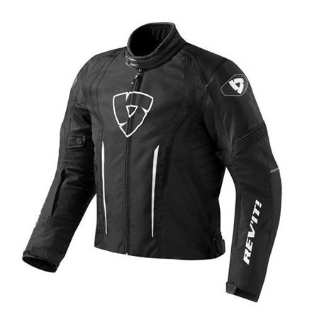 Giacca moto sportiva impermeabile Rev'it Shield Nero black waterproof jacket