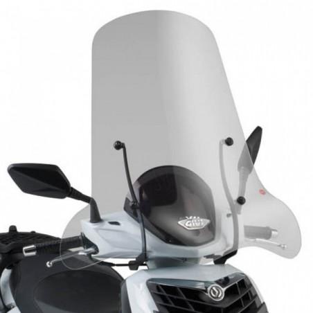 Parabrezza Paravento Aprilia Sportcity 125 200 250 dal 2004 al 2008 Givi 128A e attacchi A129A windshield