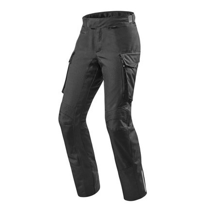 Pantaloni moto touring adventure 4 stagioni impermeabile Rev'it Outback 2 nero black 4 seasons waterproof pant trouser
