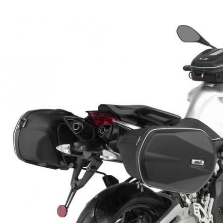 Telai Porta valigie morbide laterali Aprilia Dorsoduro 750 Givi TE6700 holder for side bags
