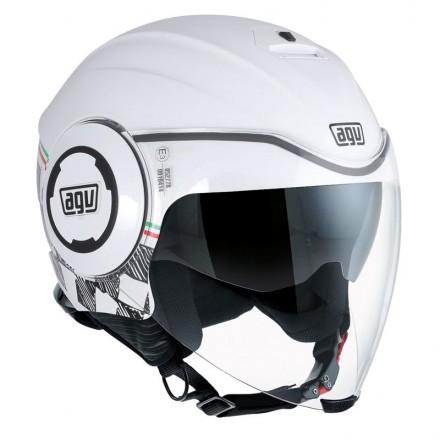 Casco jet aperto moto scooter Agv Fluid Garda helmet casque
