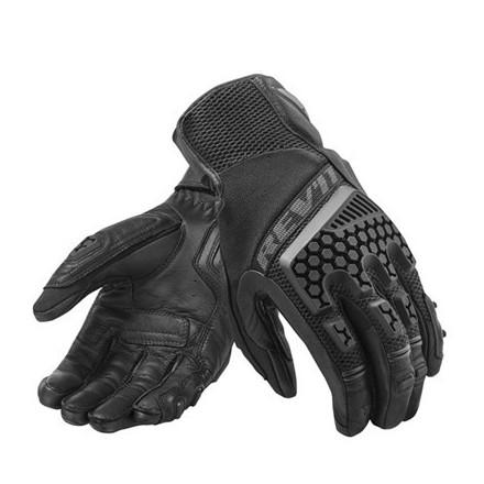 Guanti moto touring adventure sport estivi Rev'it Sand 3 nero Black summer gloves
