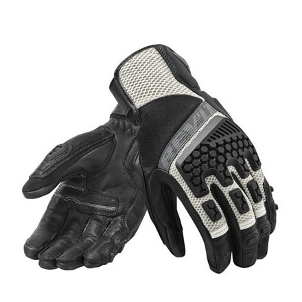 Guanti moto touring adventure sport estivi Rev'it Sand 3 nero grigio Black silver summer gloves