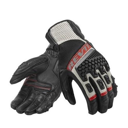 Guanti moto touring adventure sport estivi Rev'it Sand 3 nero rosso Black red summer gloves