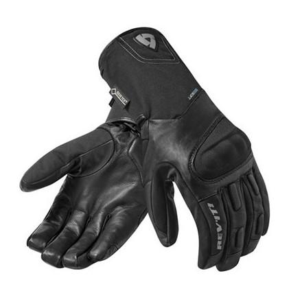 Guanti moto invernali pelle-tessuto Rev'it Stratos Goretex nero black winter leather texile gloves