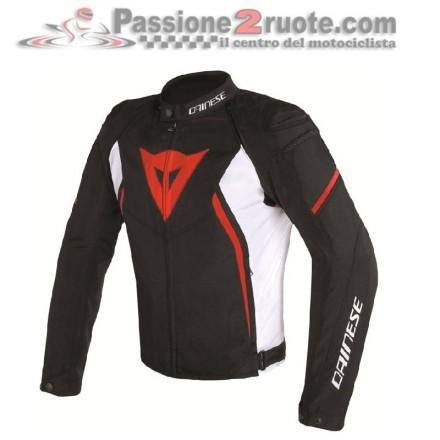 Giacca moto tessuto Dainese Avro D2 Tex man nero bianco rosso black white red jacket