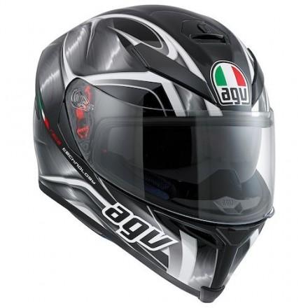 Casco integrale moto fibra Agv K-5 s Pinlock Hurricane nero black helmet