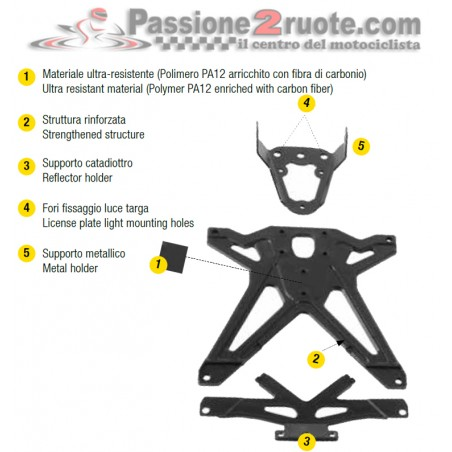 Porta Targa Ducati 749 - 999 Lightech TARDU103