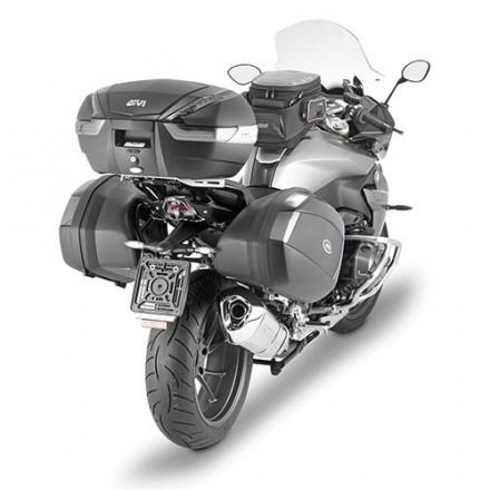 Bauletto Valigia posteriore moto scooter Givi V47 NN nero carbon monokey top case