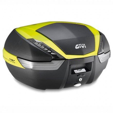 Bauletto Valigia posteriore moto scooter Givi V47 NNTFL nero giallo monokey top case