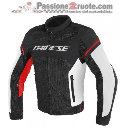 Giacca moto Dainese Air Frame D1 Tex Nero Bianco Rosso jacket