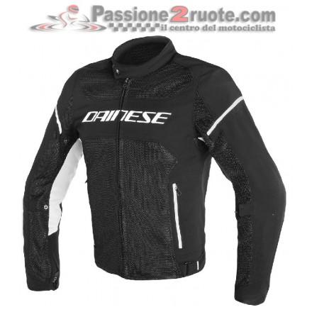 Giacca moto Dainese Air Frame D1 Tex Nero Bianco jacket