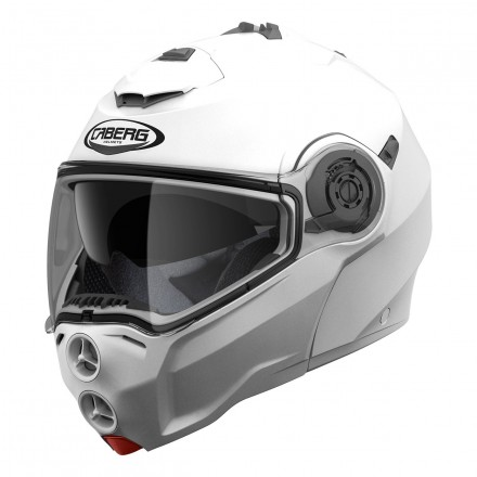 Casco modulare apribile moto Caberg Droid bianco white flip up Helmet casque