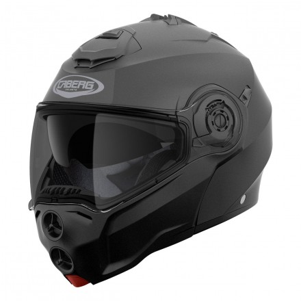 Casco modulare apribile moto Caberg Droid nero opaco matt black flip up Helmet casque