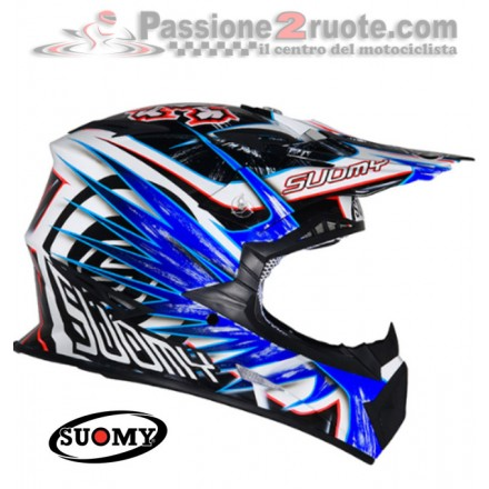 Casco moto cross enduro motard Suomy Rumble Eclipse Blue off Road helmet casque