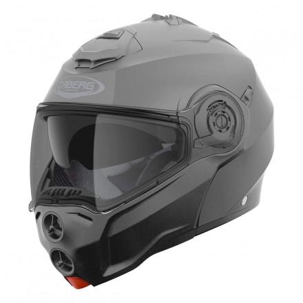 Casco modulare apribile moto Caberg Droid grigio titanio opaco matt gunmetal flip up Helmet casque