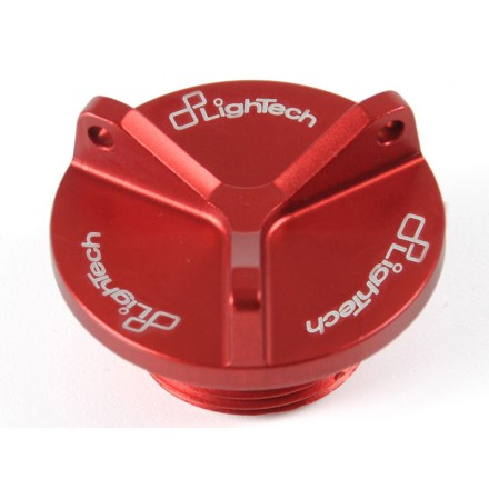 Tappo olio motore rosso red moto lightech Oil004 Fuel gas caps