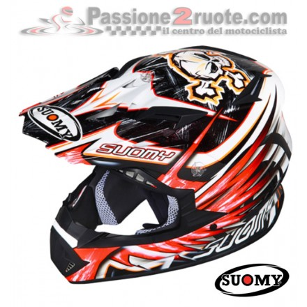 Casco moto cross enduro motard Suomy Rumble Eclipse rosso Red off Road helmet casque