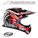 Casco moto cross enduro motard Suomy Rumble Eclipse rosso Red off Road helmet casque