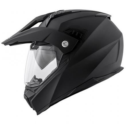Casco moto integrale enduro strada touring Kappa Kv30 nero opaco helmet