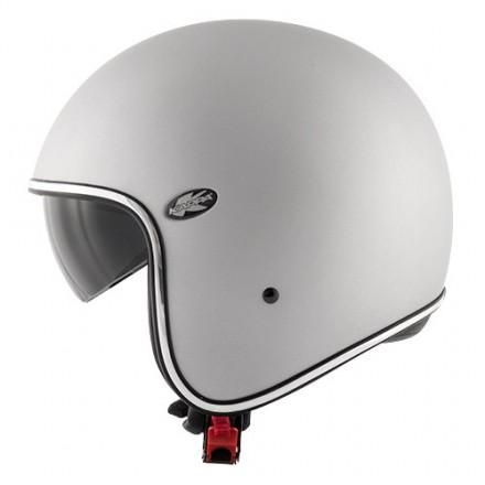 Casco jet vintage retro scrambler Kappa Kv29 Philadelphia argento opaco cafe racer helmet