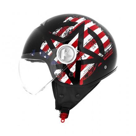 Casco jet moto scooter Kappa Kv20 Rio usa nero helmet