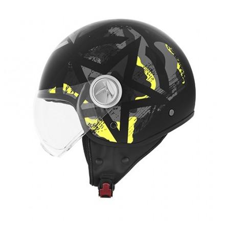 Casco jet moto scooter Kappa Kv20 Rio camouflage yellow nero helmet