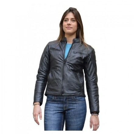 Giacca moto pelle donna Jollisport Layla lady leather jacket