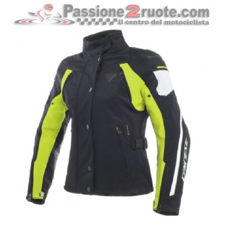 Giacca donna Dainese Rain Master D-Dry Nero giallo fluo lady jacket