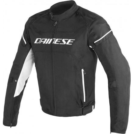 Giacca moto Dainese D-frame Tex nero bianco black white man jacket