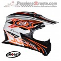 Casco moto cross Suomy Rumble vision orange off road helmet